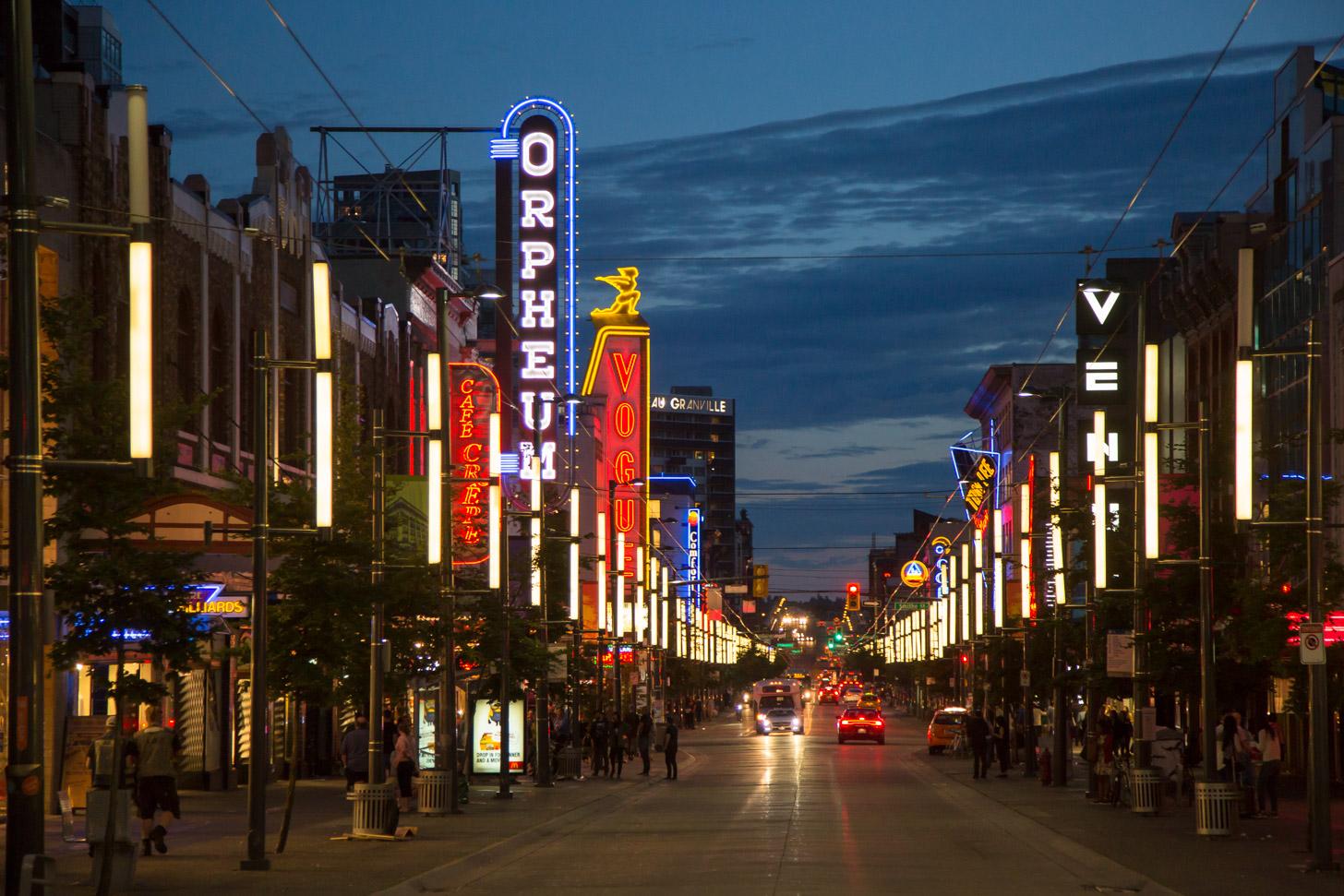 Het centrum van Vancouver