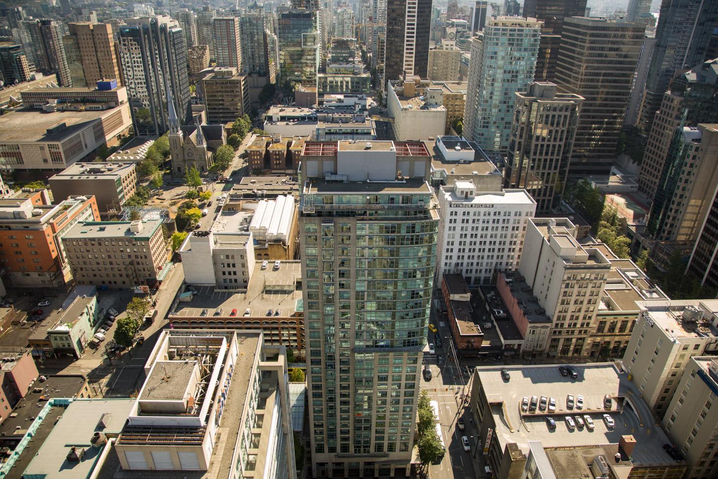 Vancouver van bovenaf gezien