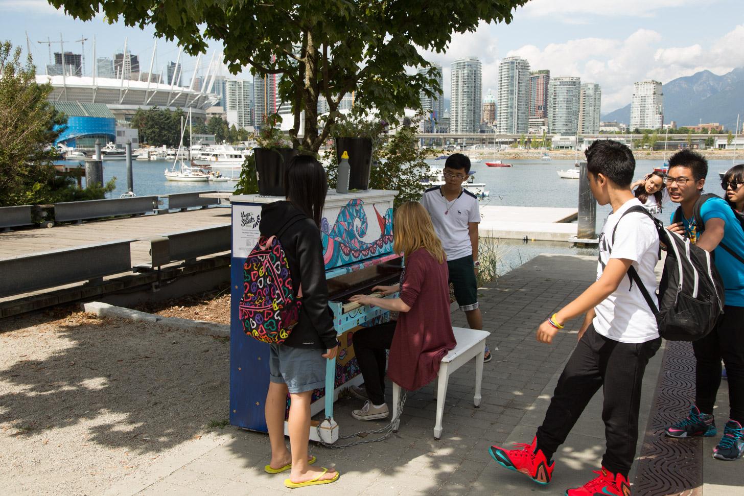 De mensen maken de sfeer in Vancouver