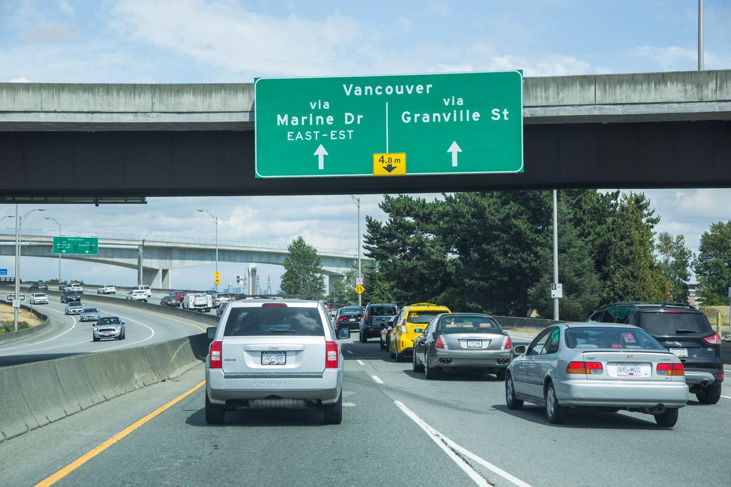 autorijden in Vancouver