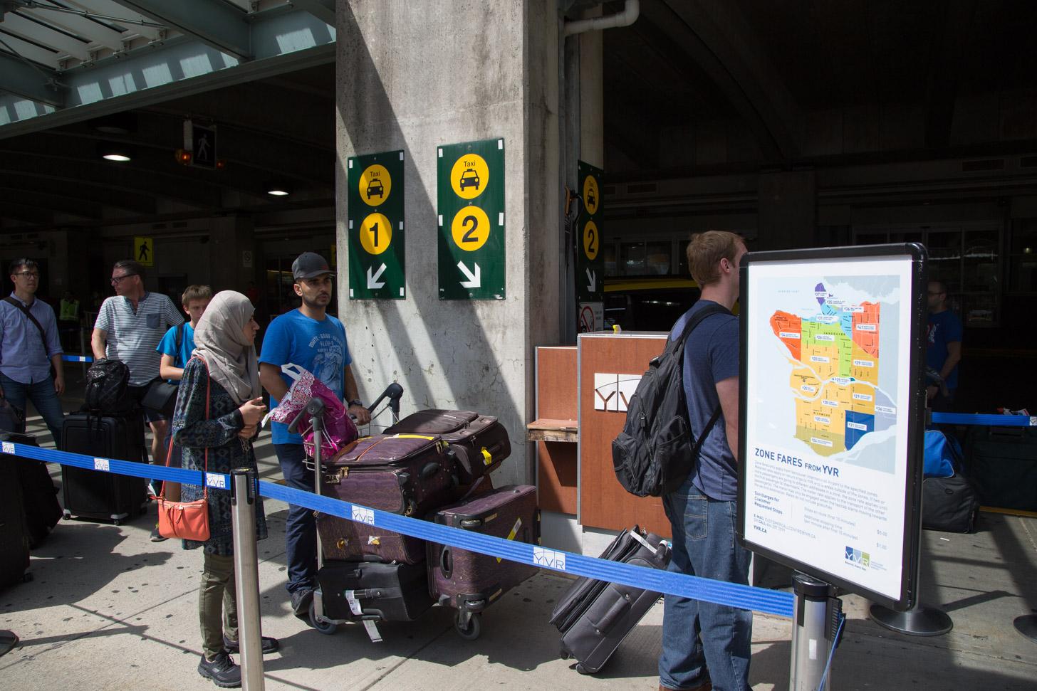 vervoer vanaf het vliegveld van Vancouver