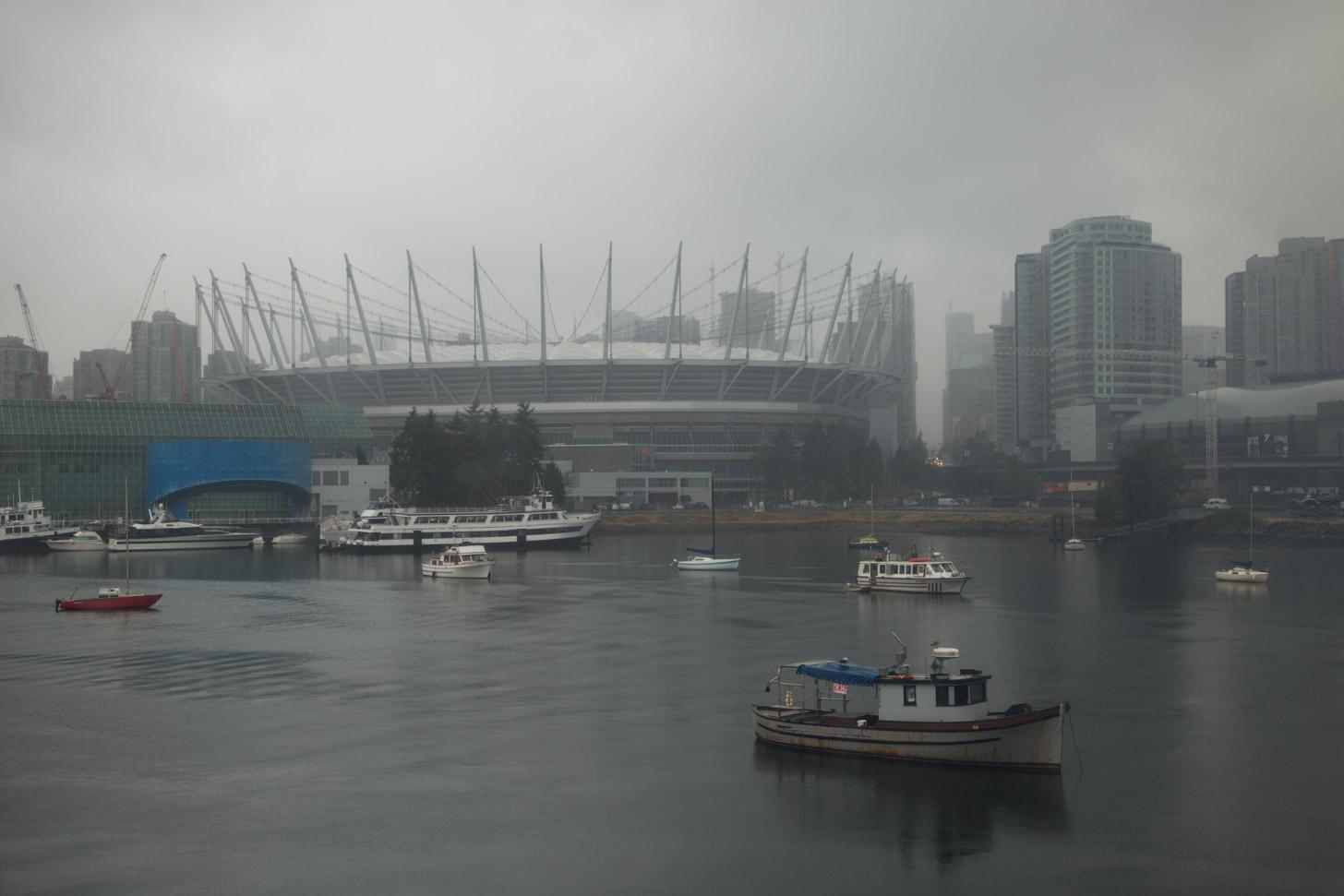 Regenachtig en bewolkt weer in Vancouver